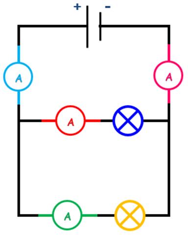 Circuit derivation amperemetre