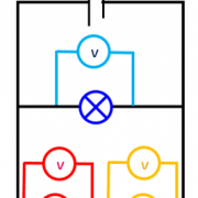 Circuit derivation voltmetre