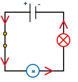 Circuit serie sens courant