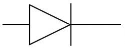 Schéma d'une diode